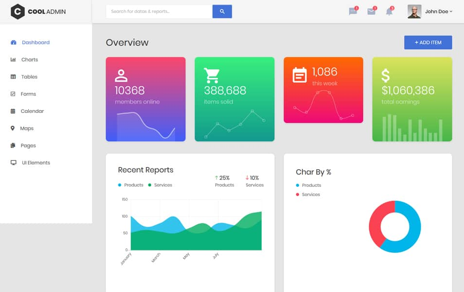 CoolAdmin Bootstrap 4.1 Admin Dashboard Template