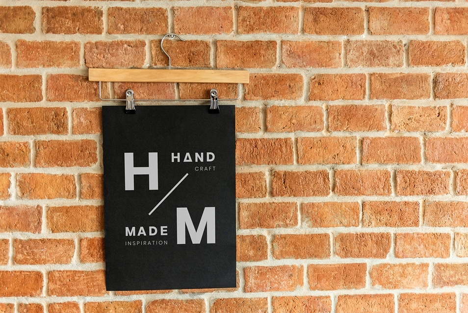 Design on a Clothes Hanger Poster Mockup