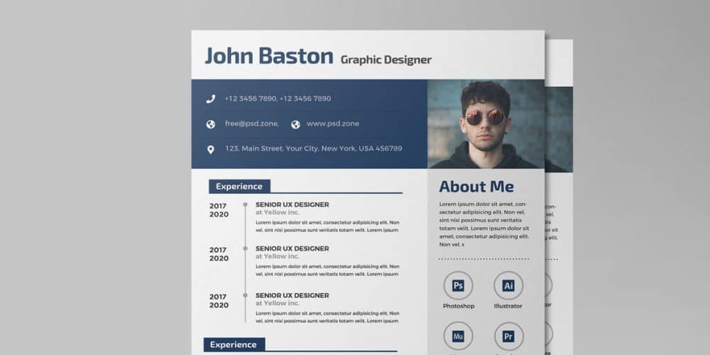 Ultimate Collection Of Free Resume Templates » CSS Author