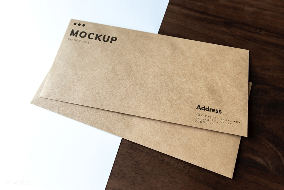 Document and Envelopes Mockup