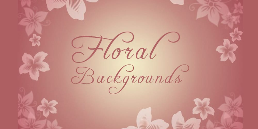 Floral Backgrounds in Beautiful Colors