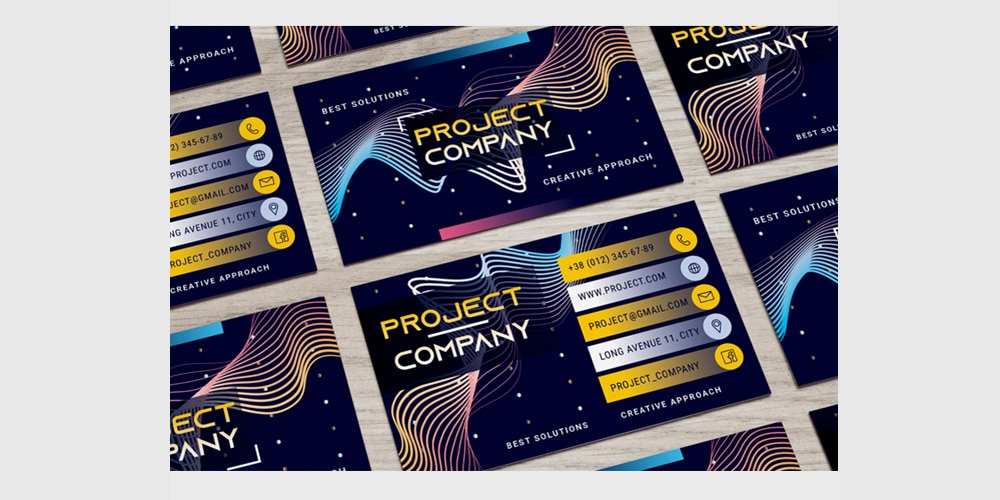 Free Corporate Company Business Card PSD