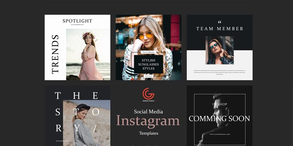 Free Social Media Instagram Templates
