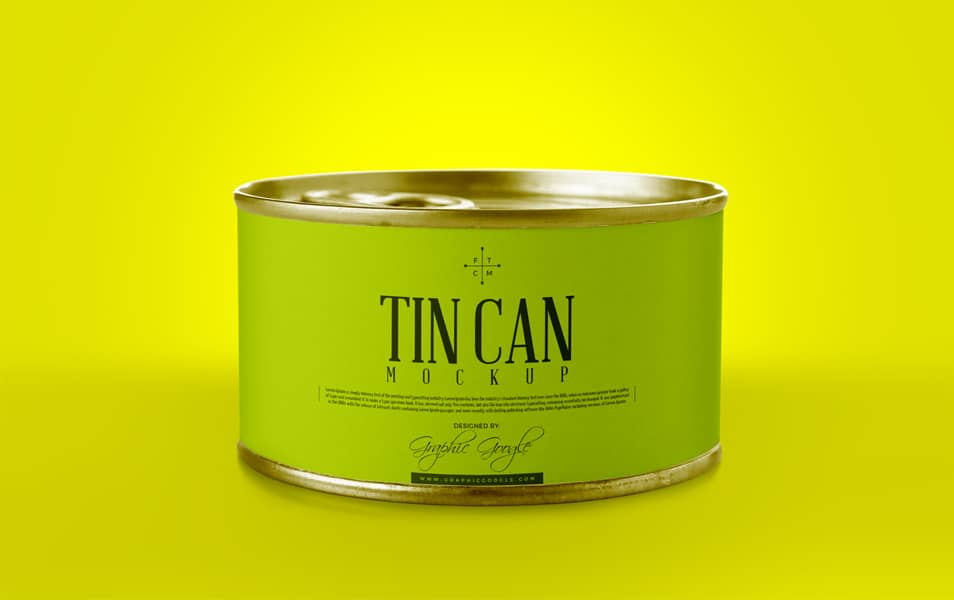 Free Tin Can Mockup PSD
