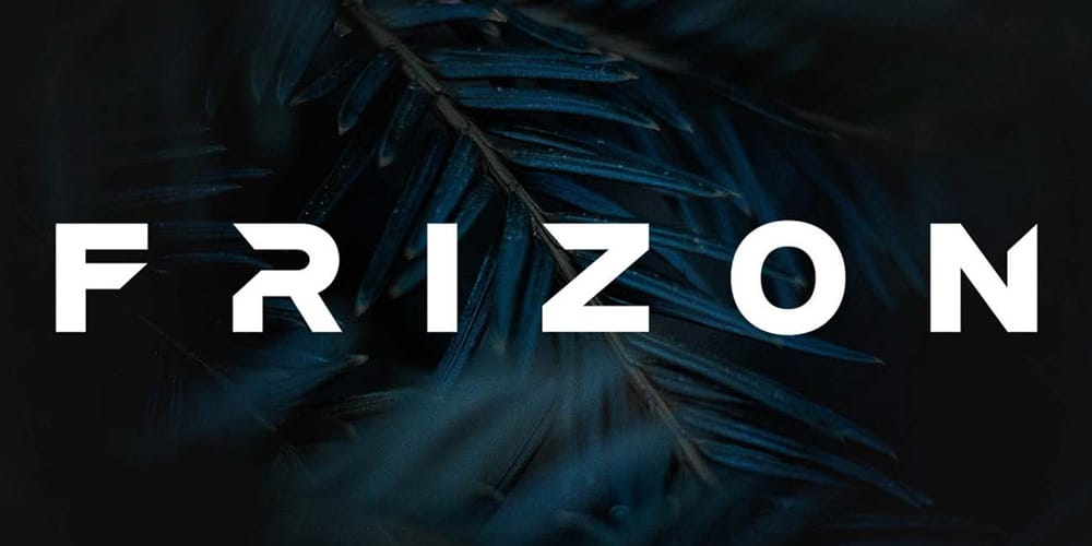 Frizon Display Typeface