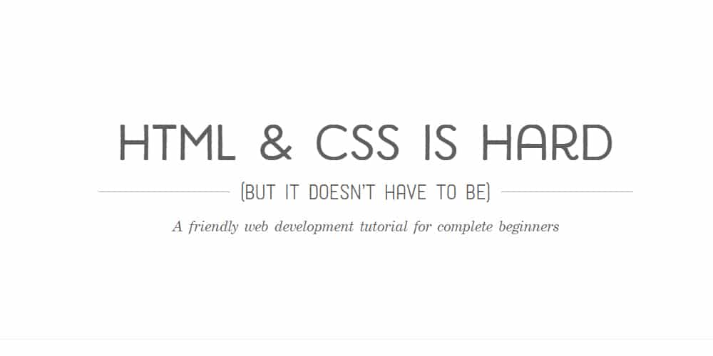HTML-CSS-is-Hard