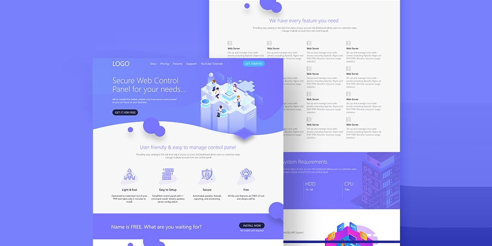 Hosting Service Web Template