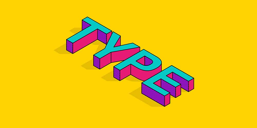 Isometric-Text-Effect