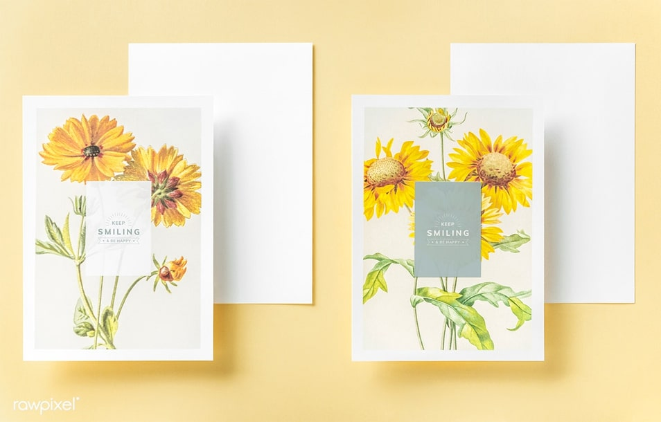 Keep Smiling Greeting Card Mockup