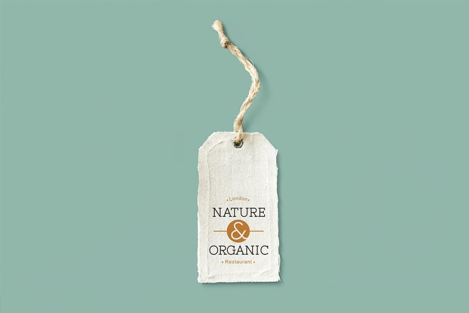 Natural Cotton Cloth Label Mockup