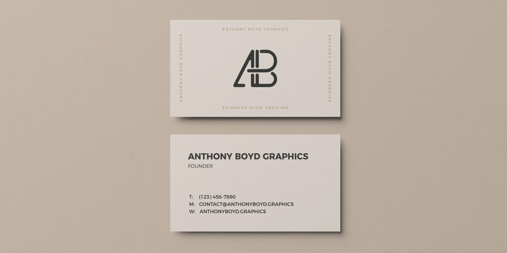 100+ Free Business Card Mockups PSD 3