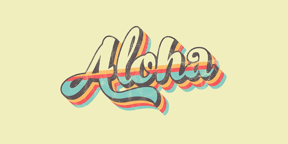 Retro Striped Text Effect