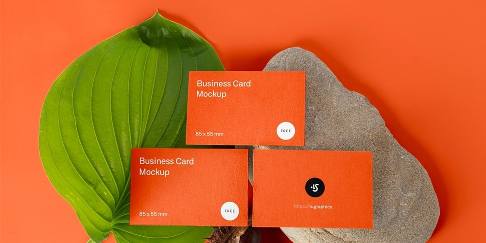 Three Business Cards Mockups PSD