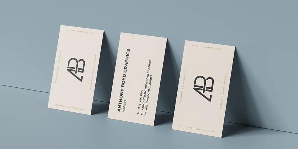 100+ Free Business Card Mockups PSD 1
