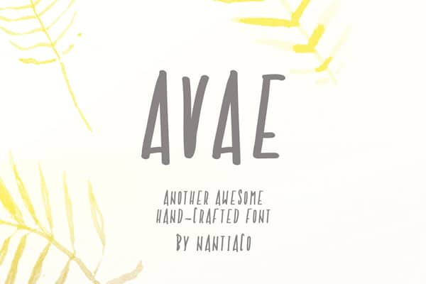 Avae Handcrafted Font
