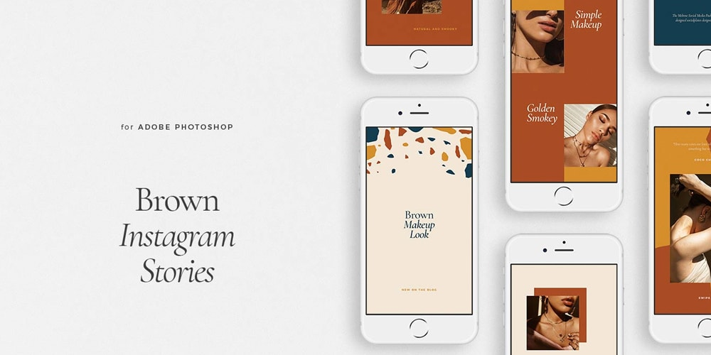 Brown Instagram Templates PSD