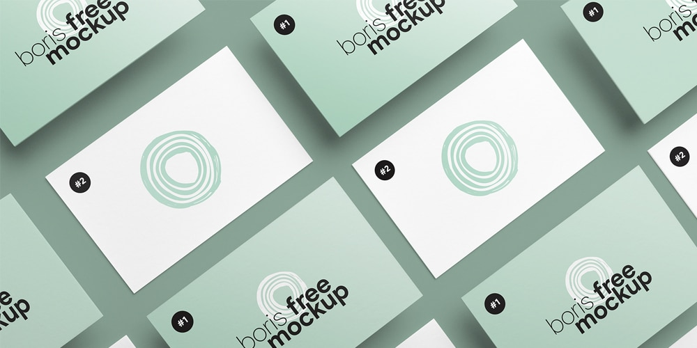 Business Card Design Showcase Mockups