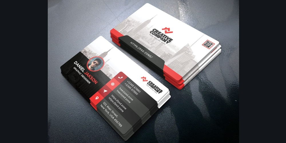 Business Card Design Template PSD