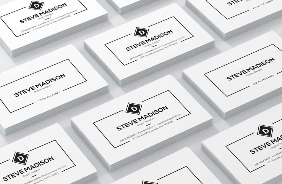 Free Set of Business Cards Mockup