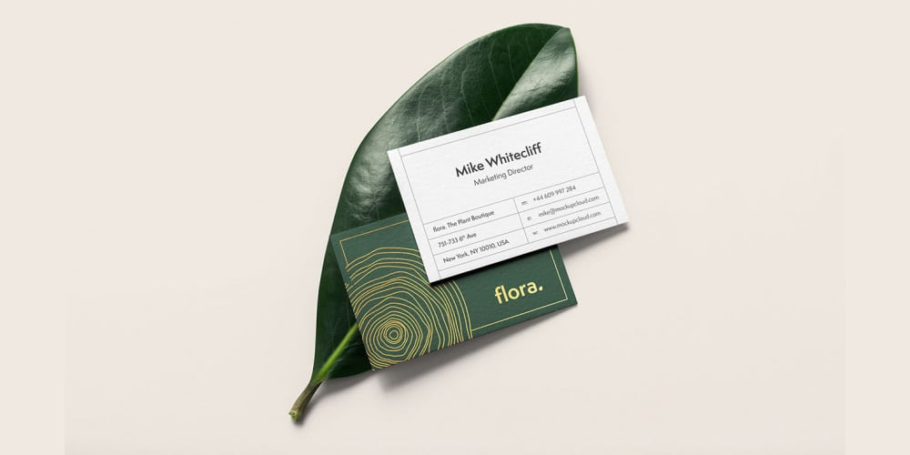 Elegant Business Card Mockup PSD