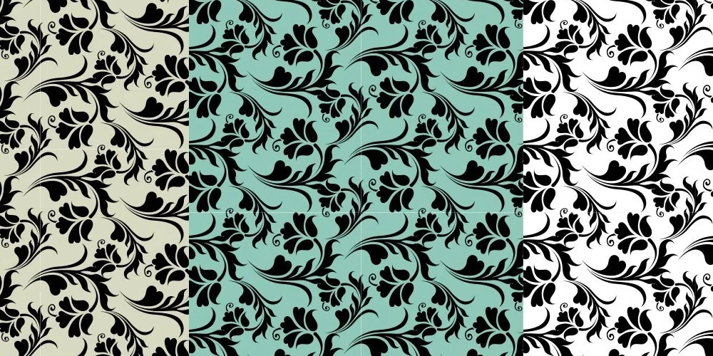 Floral abstract seamless vector pattern