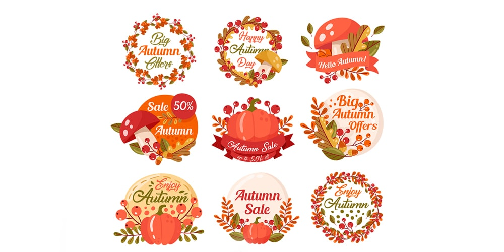 Free Autumn Badges