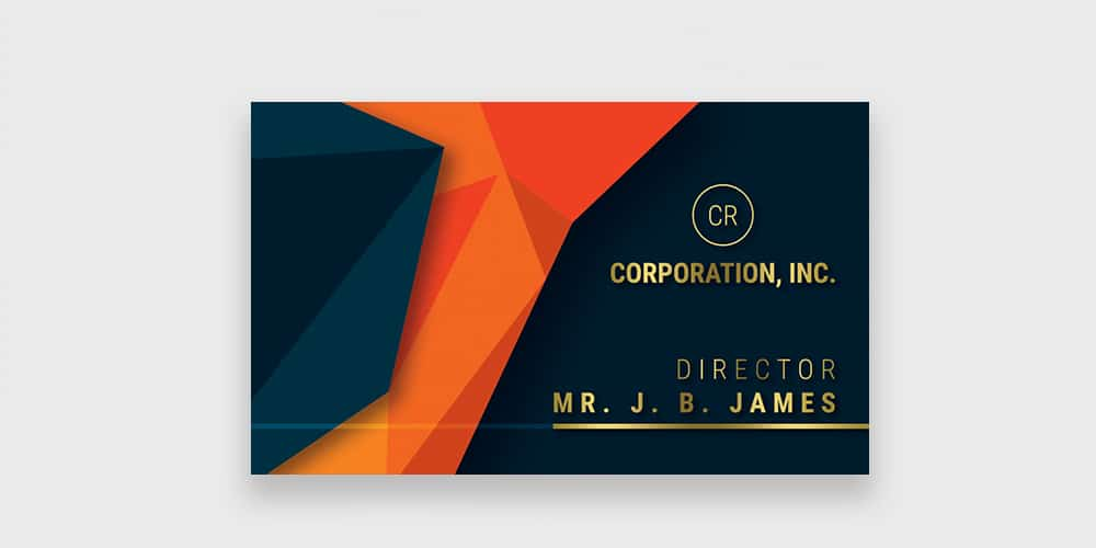 Free Corporation Business Card PSD