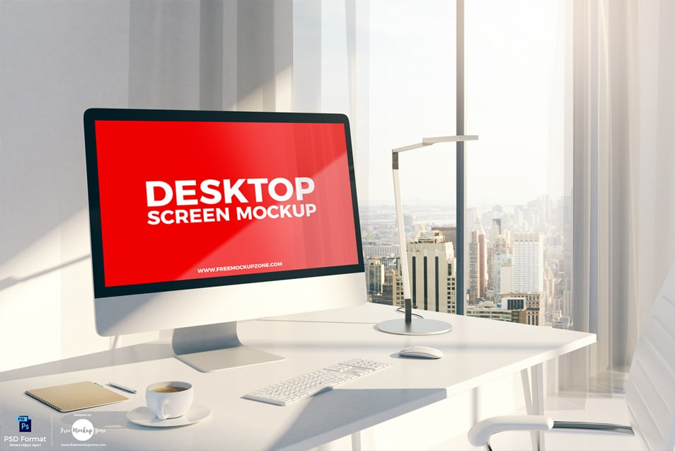 Free Designer Desktop Screen Mockup