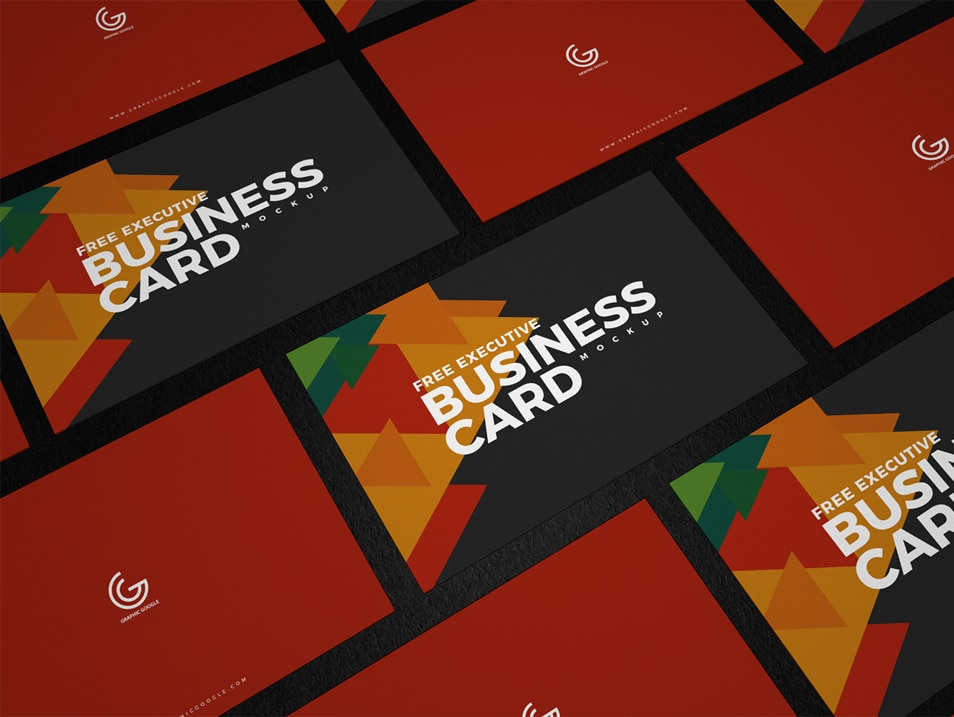 Free Executive Business Card Mockup