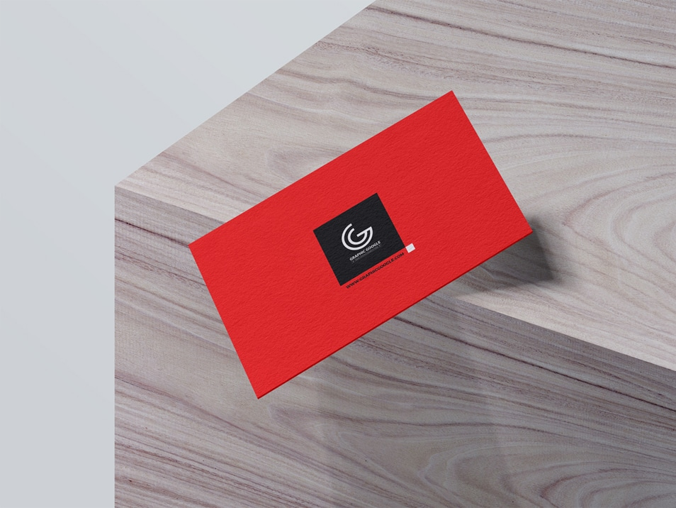 Free Falling Business Card Mockup