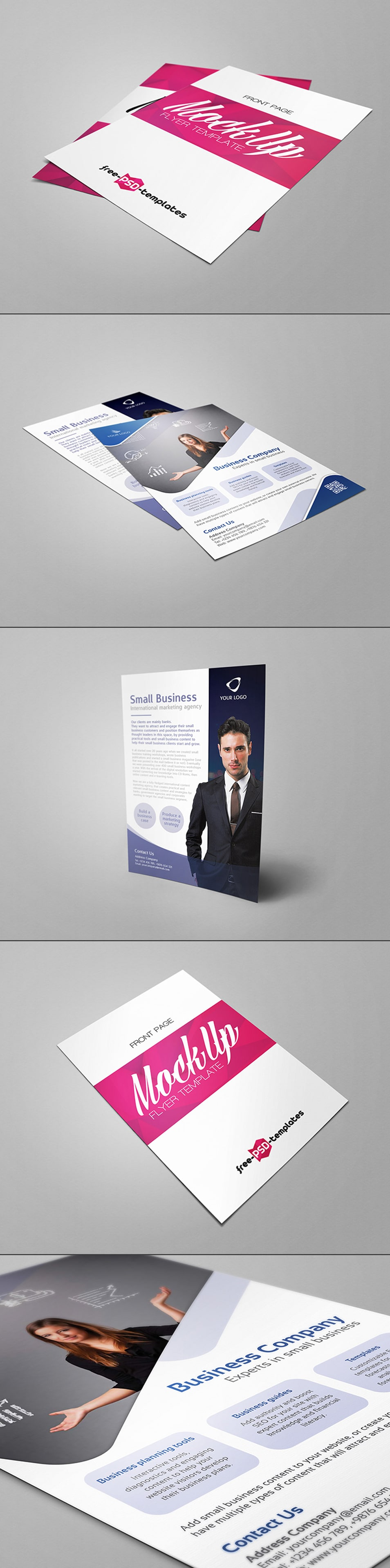 Free Flyer Mock-up in PSD