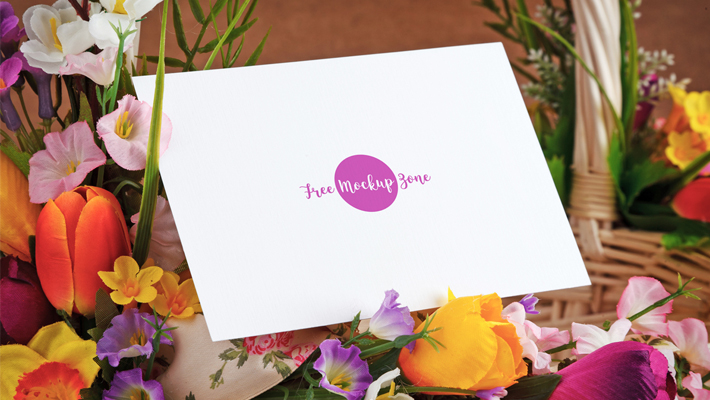 Free Lovely Mothers Day Greeting Card Mockup