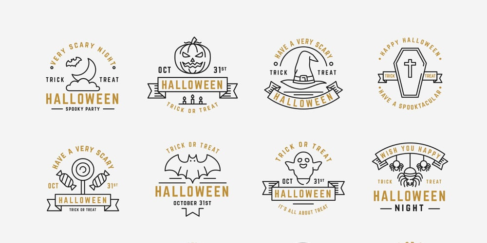 Halloween Badges