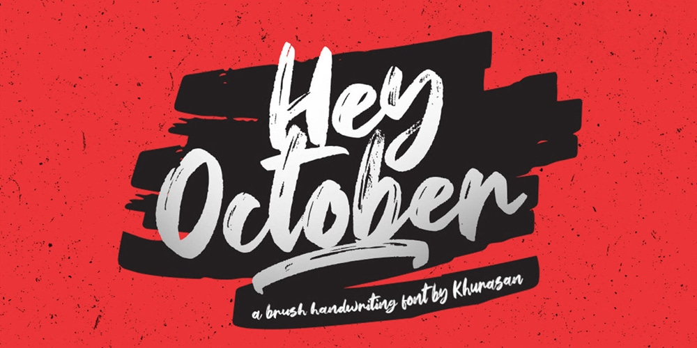 Hey October Brush Font