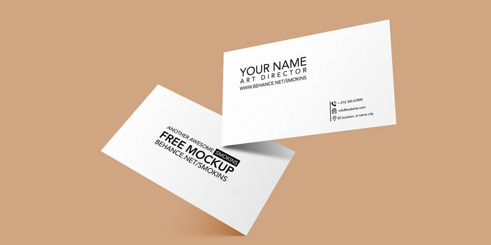 Hi-Res Business Card Mockup PSD