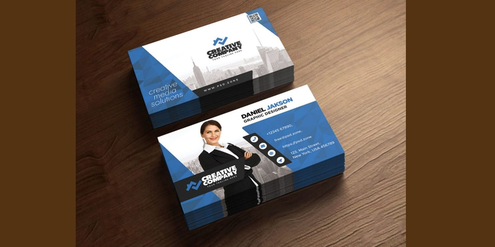Horizontal Company Business Card PSD