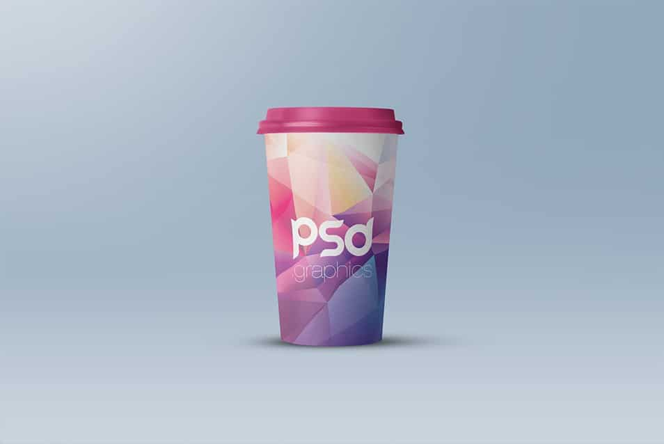 Large Paper Cup Mockup PSD