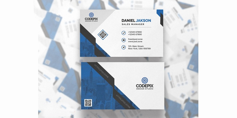 Modern Business Card Template PSD