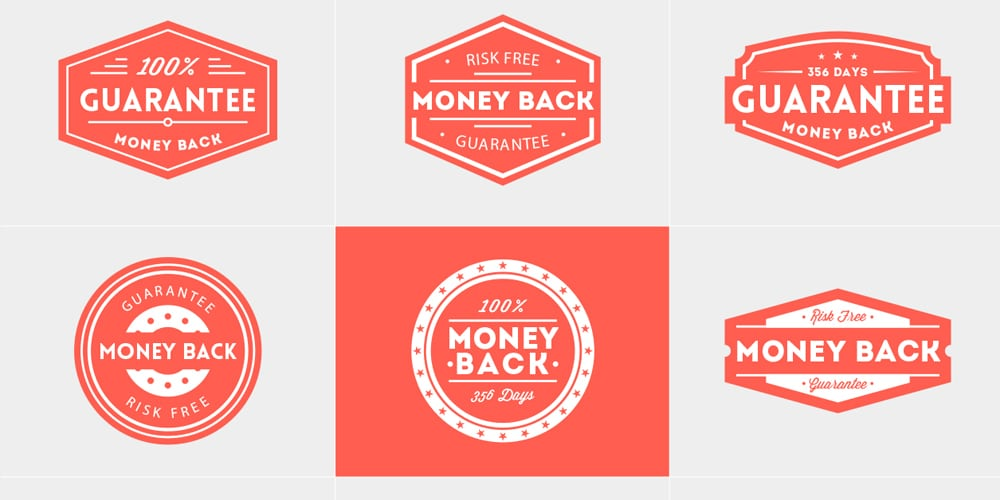 Money Back Guarantee Vector Badges