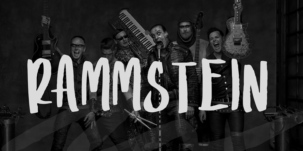 Rammstein Display Font