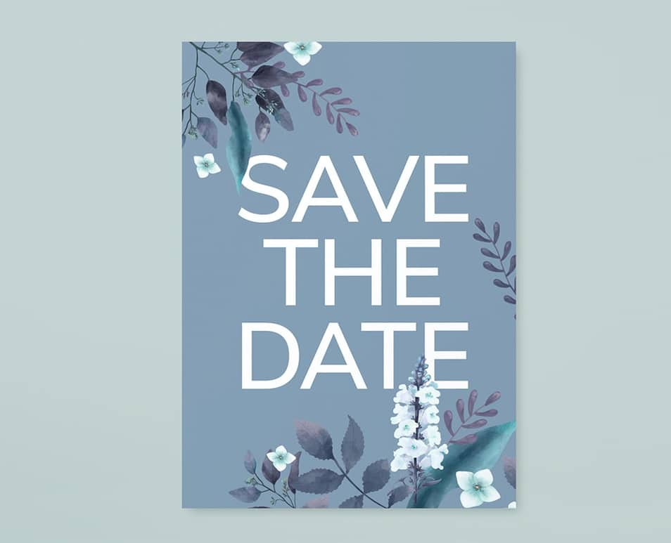 Save The Date Floral Card Mockup