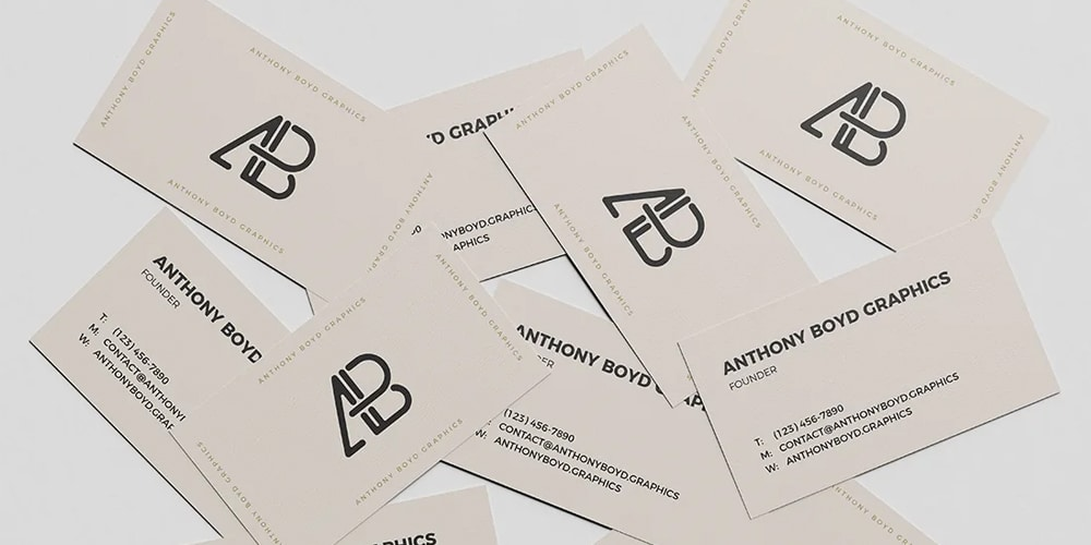 Scattered Business Card Mockup
