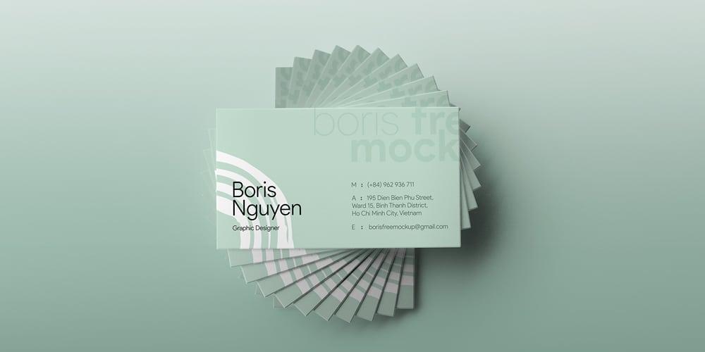 Simple Business Card Showcase Mockup PSD