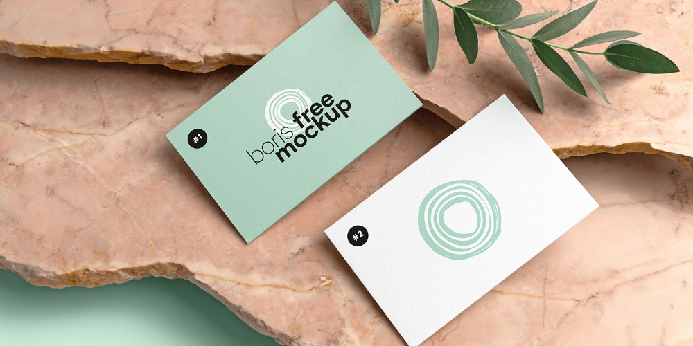 Thick Business Cards Mockup PSD