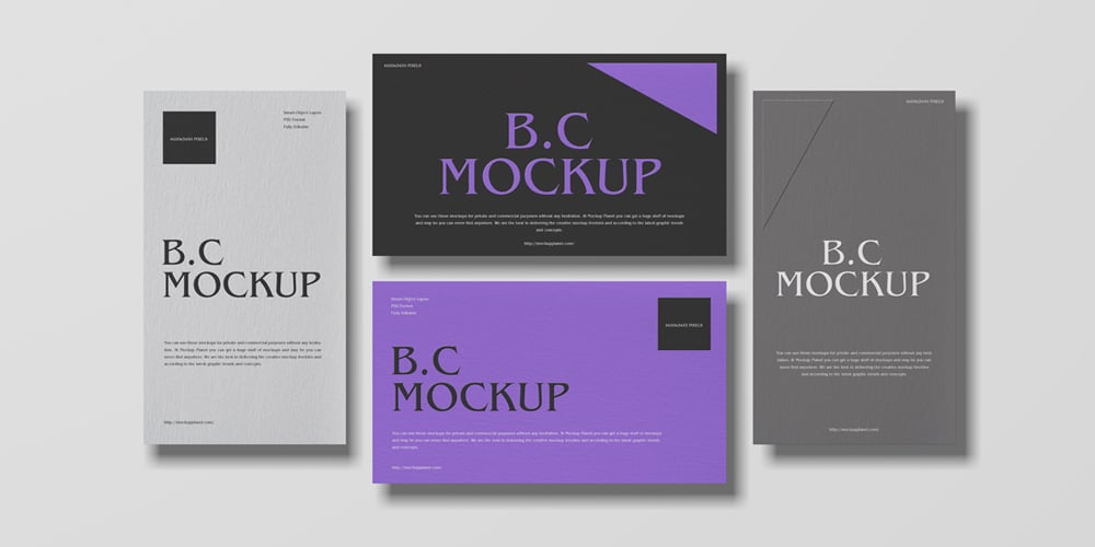 Top View Brand Business Card Mockup
