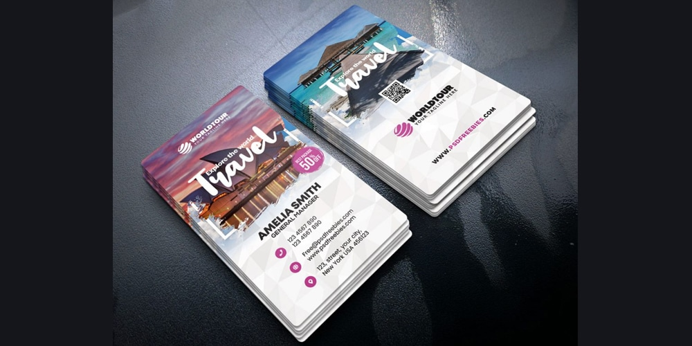 Travel Agency Business Card PSD