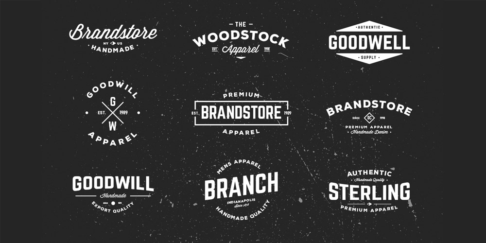 Typographic Vintage Badges