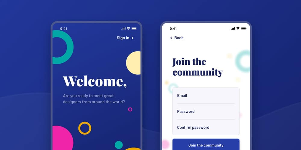 Welcome Sign Up UI