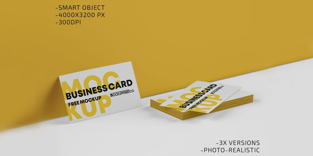 2 Business Card Mockup PSD