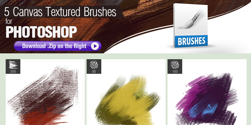 Canvas Textured Photoshop Brushes